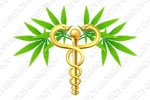 Cannabis Medical Marijuana Caduceus