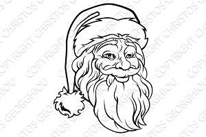 Christmas Santa Claus Vintage Style