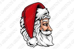 Christmas Santa Claus in Profile