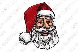 Santa Claus Vintage Woodcut Style