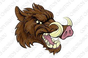 Boar Sports Mascot