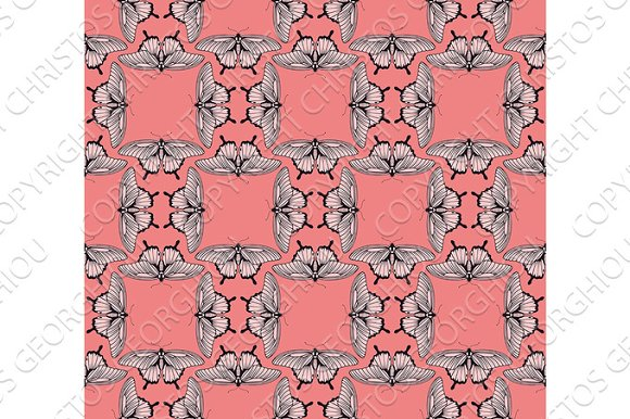 Background Butterfly Pattern