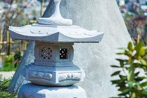 Japaneese garden in a spring time
