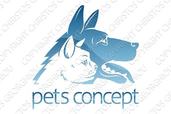 Cat Ad Dog Pets Concept