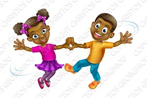 Cartoon Kids Dancing