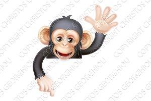 Waving Monkey Sign