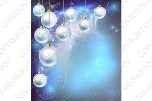 Christmas Baubles Abstract Background