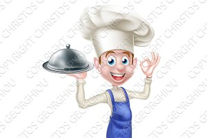 Happy Friendly Cartoon Chef