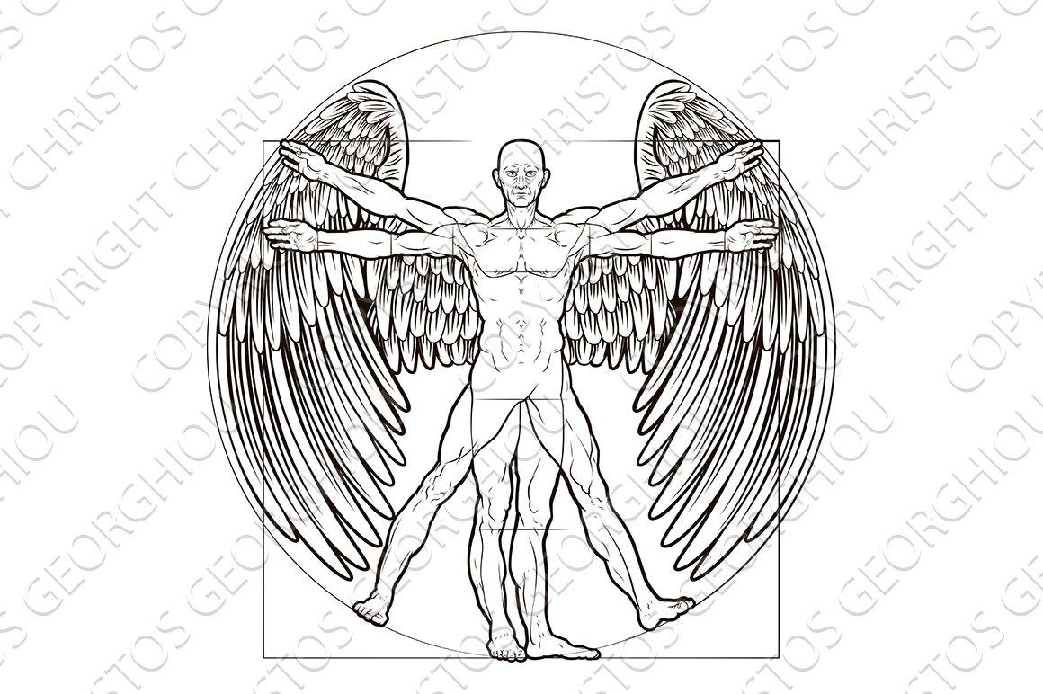 Vitruvian Man Angel ~ Illustrations ~ Creative Market