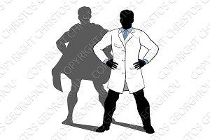 Scientist Super Hero Silhouette