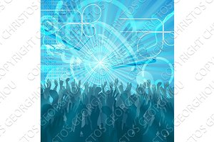 Party Crowd Abstract Party Background