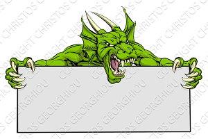 Dragon Sports Mascot Sign