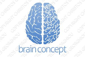 Brain circuit board concept
