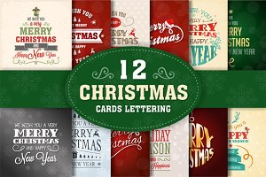 Christmas Lettering Cards Collection