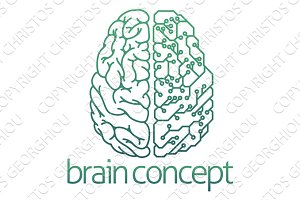Brain half electrical circuit board concept