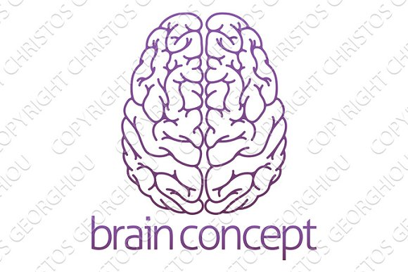 Abstract Illustration Of A Brain