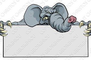 Elephant Sports Mascot Sign