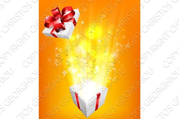 Gift Box Explosion Concept
