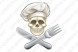 Pirate Crossbones Chef Cartoon