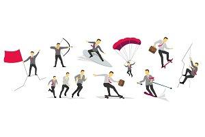 Businessman sport activities successful life adventure