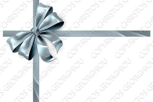 Silver Bow Ribbon