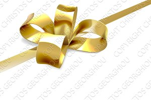 Gold Bow Gift Background