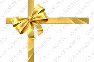 Gold Bow Gift