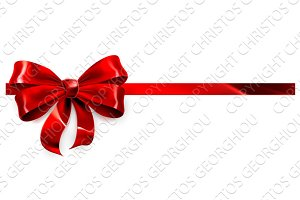Red Bow Gift Background