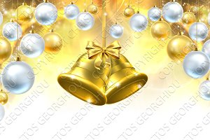 Christmas Bells Decorations Background