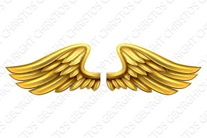 Metal Gold Wings