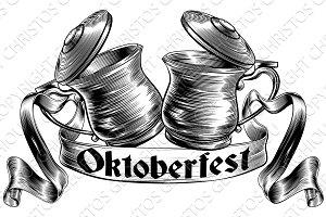Beer Stein Tankard Toast Oktoberfest Concept