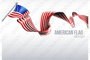 American Flag Ribbon Design