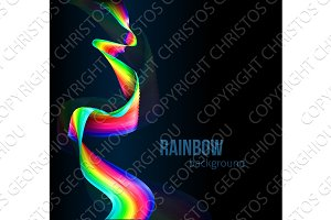Rainbow Color Ribbon Background