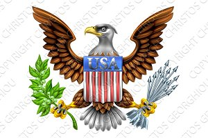 USA Eagle Shield Design