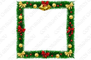 Christmas Wreath Border Frame