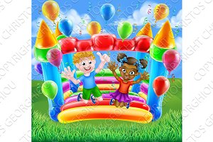Cartoon Kids Bouncy Castle