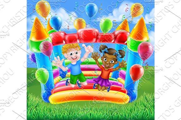 Cartoon Kids Bouncy Castle