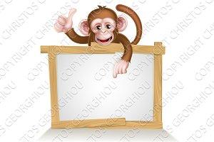 Cartoon Monkey Sign