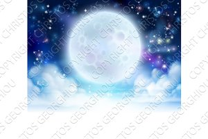 Moon Sky Header Background