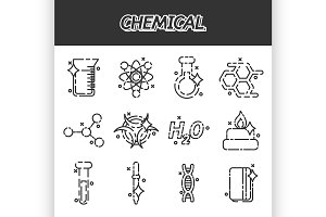 Chemical concept icons