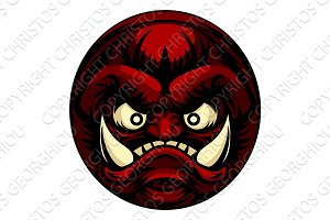 Troll or Monster Icon Emoticon