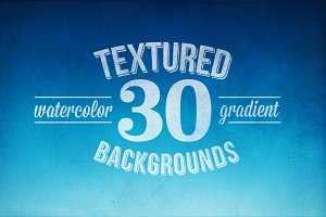 30 Watercolor Backgrounds - PSD File