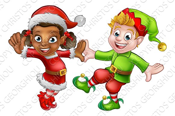 Dancing Christmas Elves