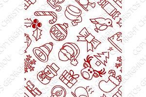 Christmas Pattern Seamless Background