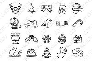 Christmas Hand Drawn Icon Set