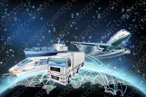 Logistics Globe Concept