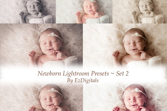 10 newborn lightroom presets add ons creative market