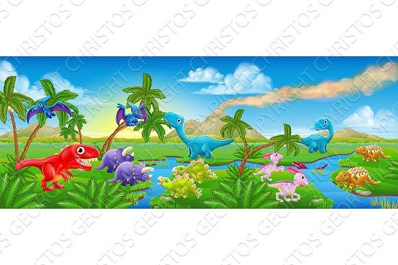Dinosaur Landscape Clipart