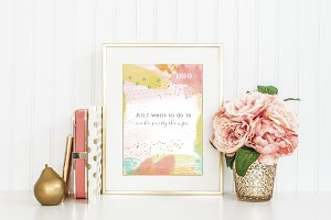 Printable watercolor wall art quote