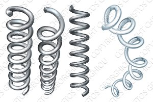 Steel Metal Spring Coil Design Elements